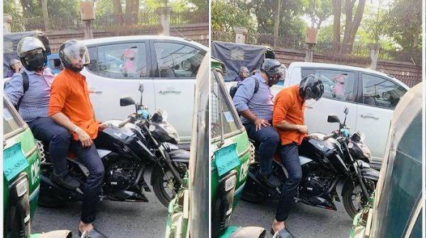 মোটরসাইকেলে জ্যামে আটকে মাশরাফী, যাচ্ছেন সচিবালয়ে